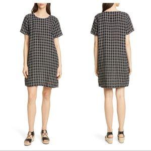 Eileen Fisher plaid shift dress